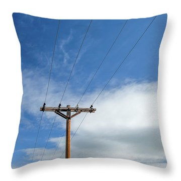 4 Lines 1 Pole Throw Pillow