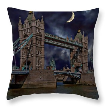 Throw Pillow featuring the photograph London Tower Bridge by Anthony Dezenzio