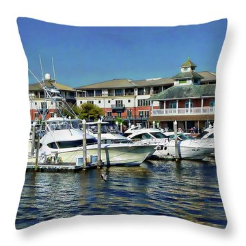 Throw Pillow featuring the photograph Palafox Pier by Anthony Dezenzio