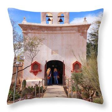 San Xavier Del Bac Az Throw Pillow