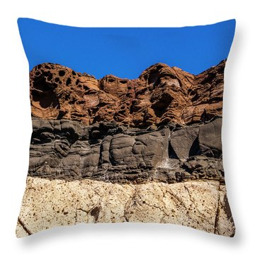 4 Textures 4 Colors Throw Pillow