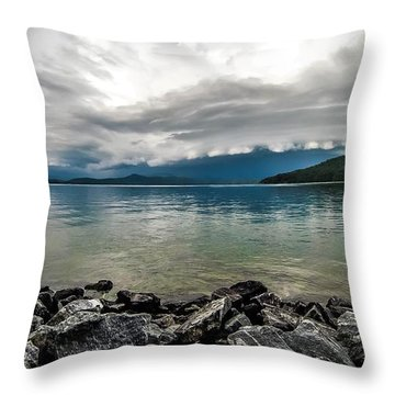 Throw Pillow featuring the photograph Scenery Around Lake Jocasse Gorge by Alex Grichenko