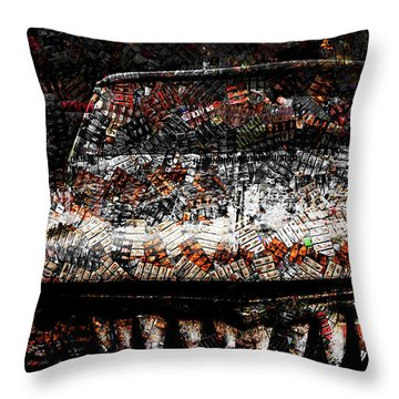 40 Years And Mean Teeth Throw Pillow