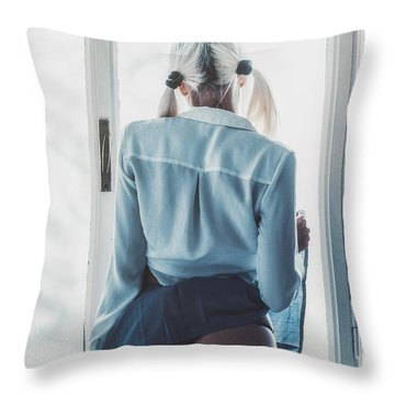 Throw Pillow featuring the photograph 4130 by Traven Milovich