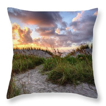 48th Ave. Sunrise North Myrtle Beach Throw Pillow
