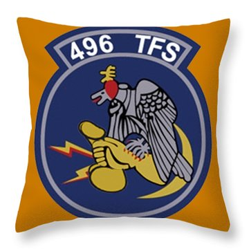 496th Tactical Fighter Squadron  Throw Pillow
