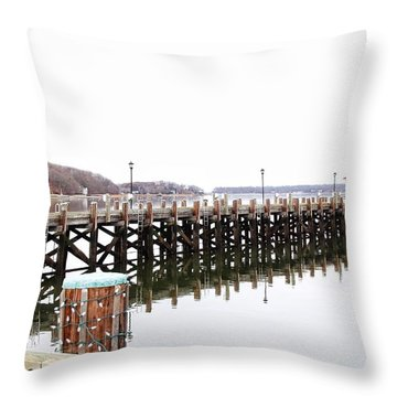 Northport Dock Throw Pillow