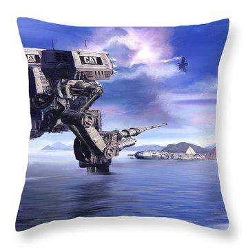 501st Mech Defender Throw Pillow