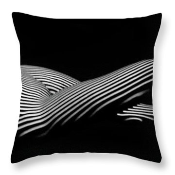 5298 Zebra Woman H Throw Pillow