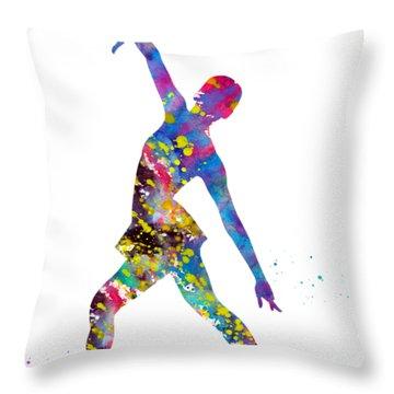 Ice Skater Throw Pillow