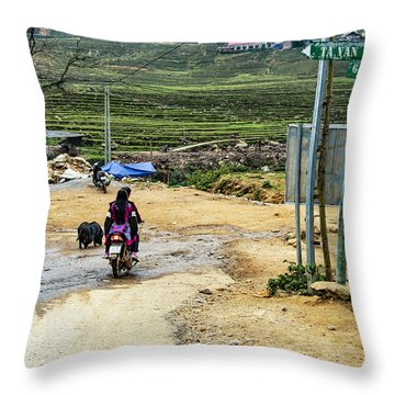6 Km To Sapa, Vietnam Throw Pillow
