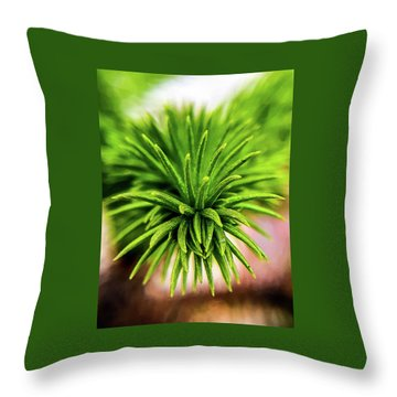 Green Spines Throw Pillow