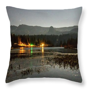 Throw Pillow featuring the photograph Sierra National Park Mountains Near Mammoth Lakes Californit by Alex Grichenko