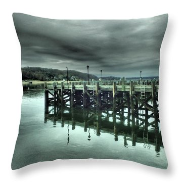 Northport Dock Throw Pillow