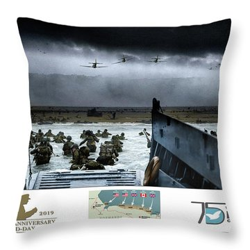 75th Anniversary Of  D-day Throw Pillow