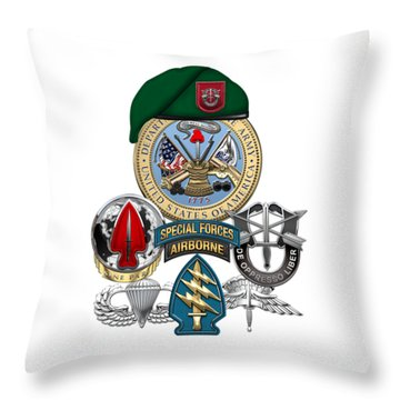 7th Special Forces Group - Green Berets Special Edition Throw Pillow