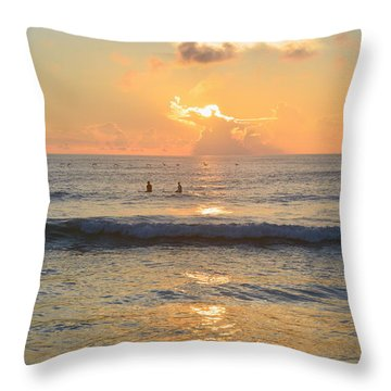 Throw Pillow featuring the photograph 9/3/18 Kitty Hawk Sunrise by Barbara Ann Bell