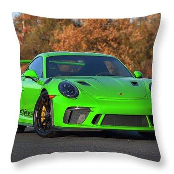 #porsche 911 #gt3rs #print Throw Pillow