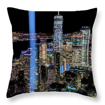 911 Lights Throw Pillow