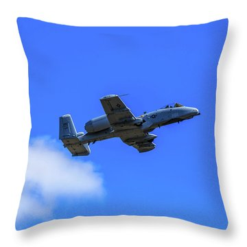 A-10c Thunderbolt II In Flight Throw Pillow
