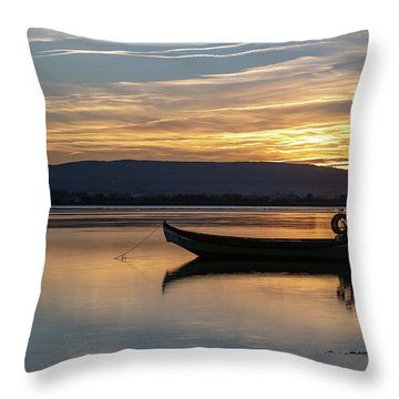 Throw Pillow featuring the photograph A Boat by Bruno Rosa