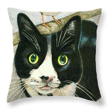 A Cat Named Sparrow Throw Pillow