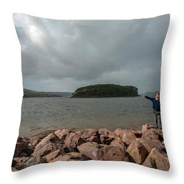 A Charming Little Girl In The Isle Of Skye 1 Throw Pillow
