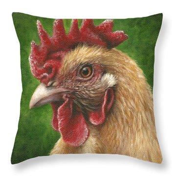 A Chicken For Terry Throw Pillow