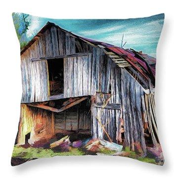 A Classic Vintage Barn In The Blue Ridge Ap Throw Pillow