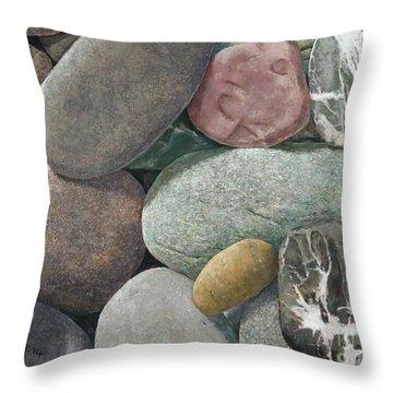 A Congregation Of Stones Throw Pillow