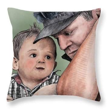 A Conversation With Daddy  Throw Pillow