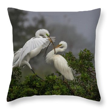A Couple Of Birds Throw Pillow
