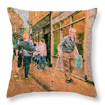 A Day At The Shops Throw Pillow