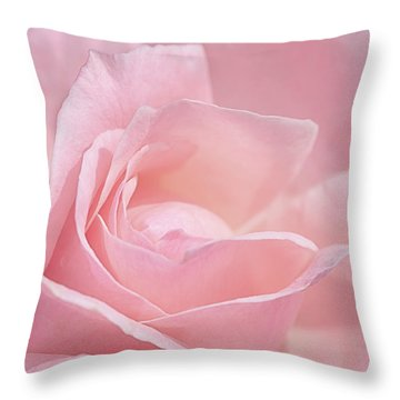 A Delicate Pink Rose Throw Pillow