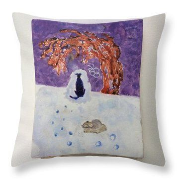 A Dog Named Novak At Home In Heaven Throw Pillow