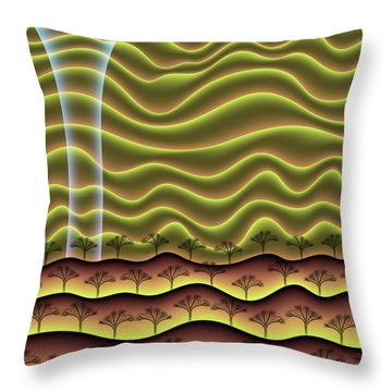 A Faint Glow On The Horizon Throw Pillow
