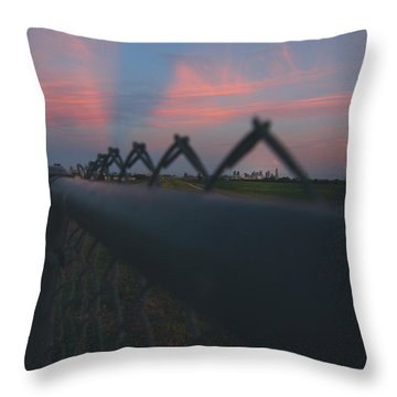 A Fence Throw Pillow