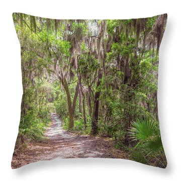 Throw Pillow featuring the photograph A Forest Trail by John M Bailey