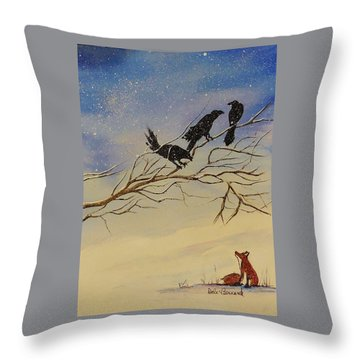 A Fox And His Cronies Throw Pillow