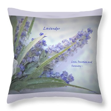 A Gift Of Lavender Throw Pillow