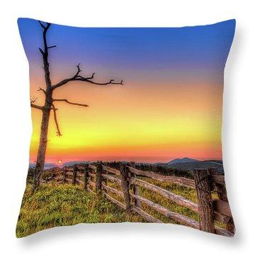 A Gorgeous Blue Ridge Sunrise Throw Pillow