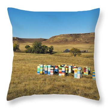 Throw Pillow featuring the photograph A Great Place To Bee by Carl Young