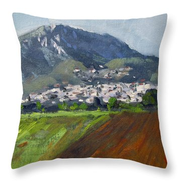 A Greek Village Throw Pillow
