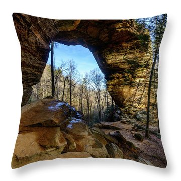 A Hole In Time Throw Pillow