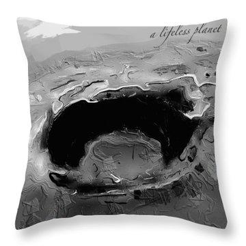 A Lifeless Planet Black Throw Pillow