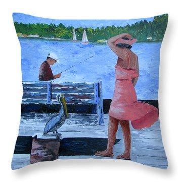 A Little Breeze Throw Pillow