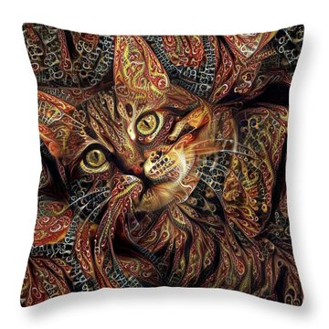 A Little Cinnamon Throw Pillow