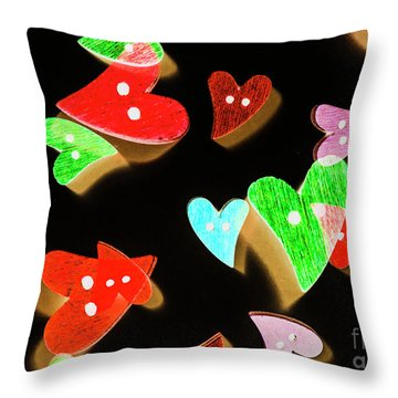 A Modern Romance Throw Pillow