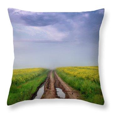 A Muddy Trail Throw Pillow
