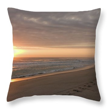 Throw Pillow featuring the photograph A New Day by John M Bailey